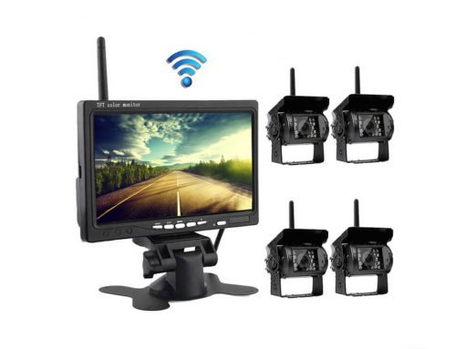 Wireless Backup Camera + Monitor with HD Waterproof Night vision, for RV, Truck, Trailer, Bus, Vans(SL-D-1to4)